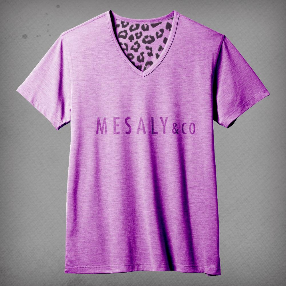 V-Neck T-Shirt Purple