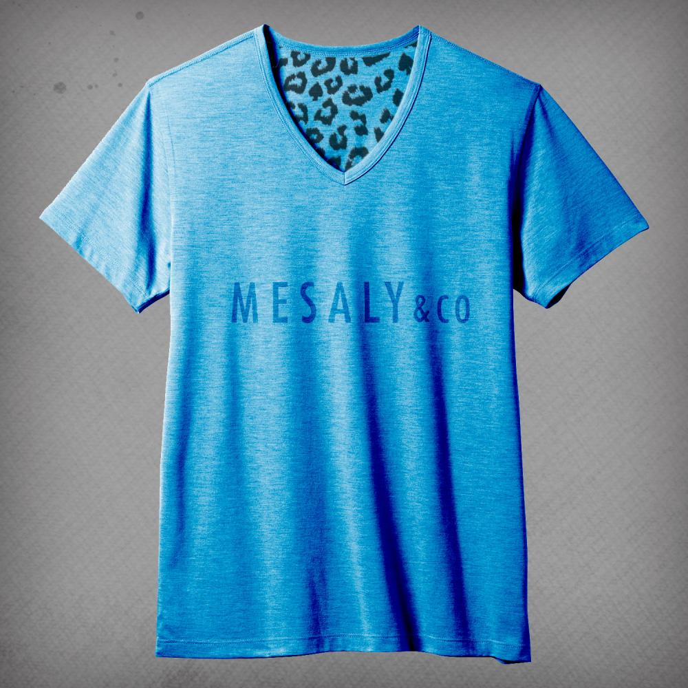 V-Neck T-Shirt Blue